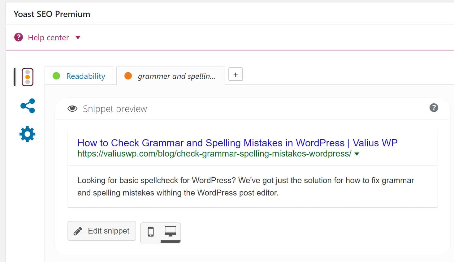 Checking SEO with Yoast